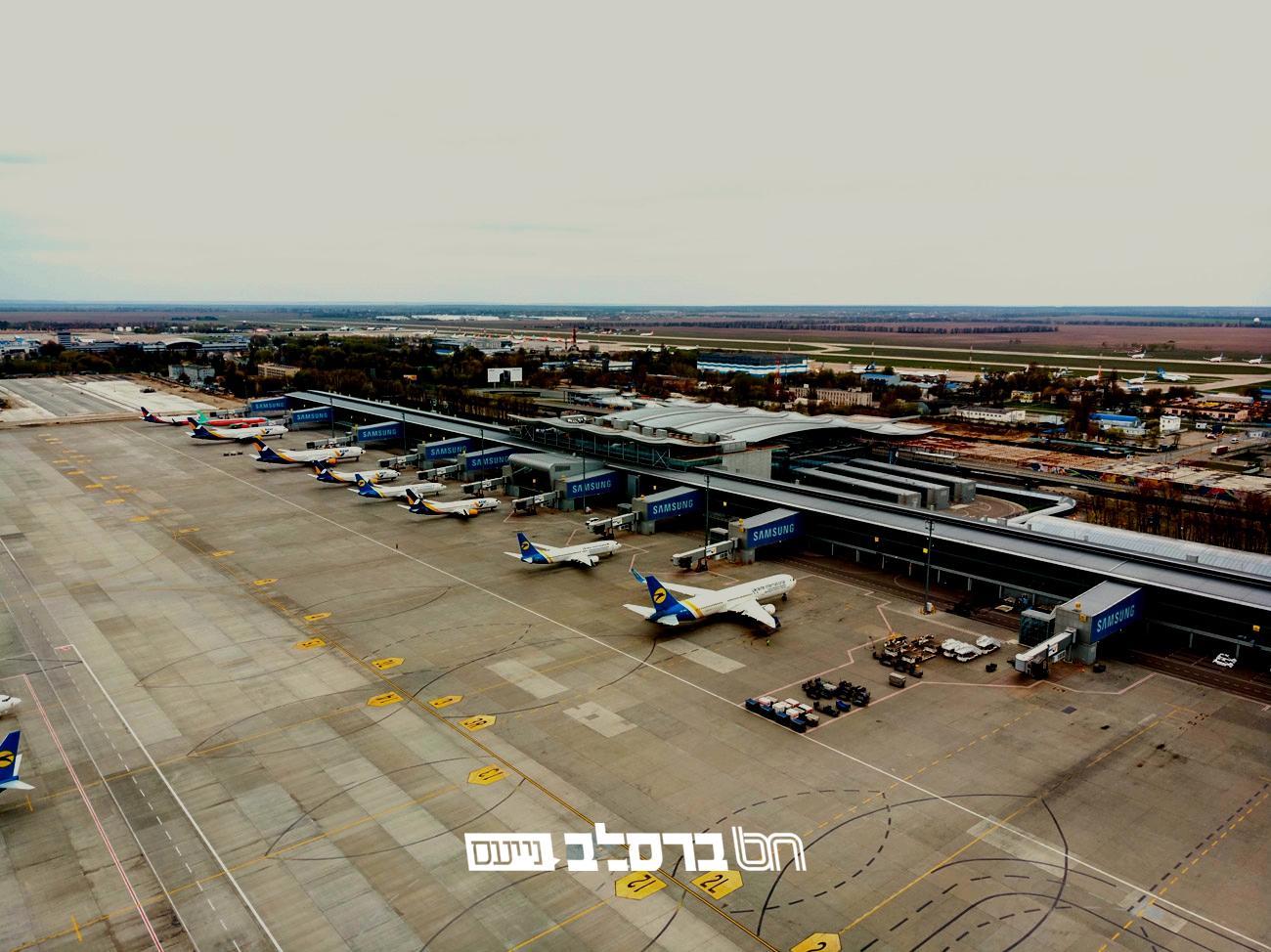 צפו • תיעוד לא שגרתי: כך נראה שדה התעופה בקייב בימי הקורונה…