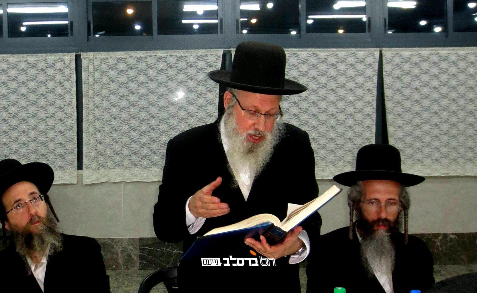 בית שמש • סיום מסכת שבת והתחלת מסכת עירובין בבית הכנסת ברסלב בקריה החרדית