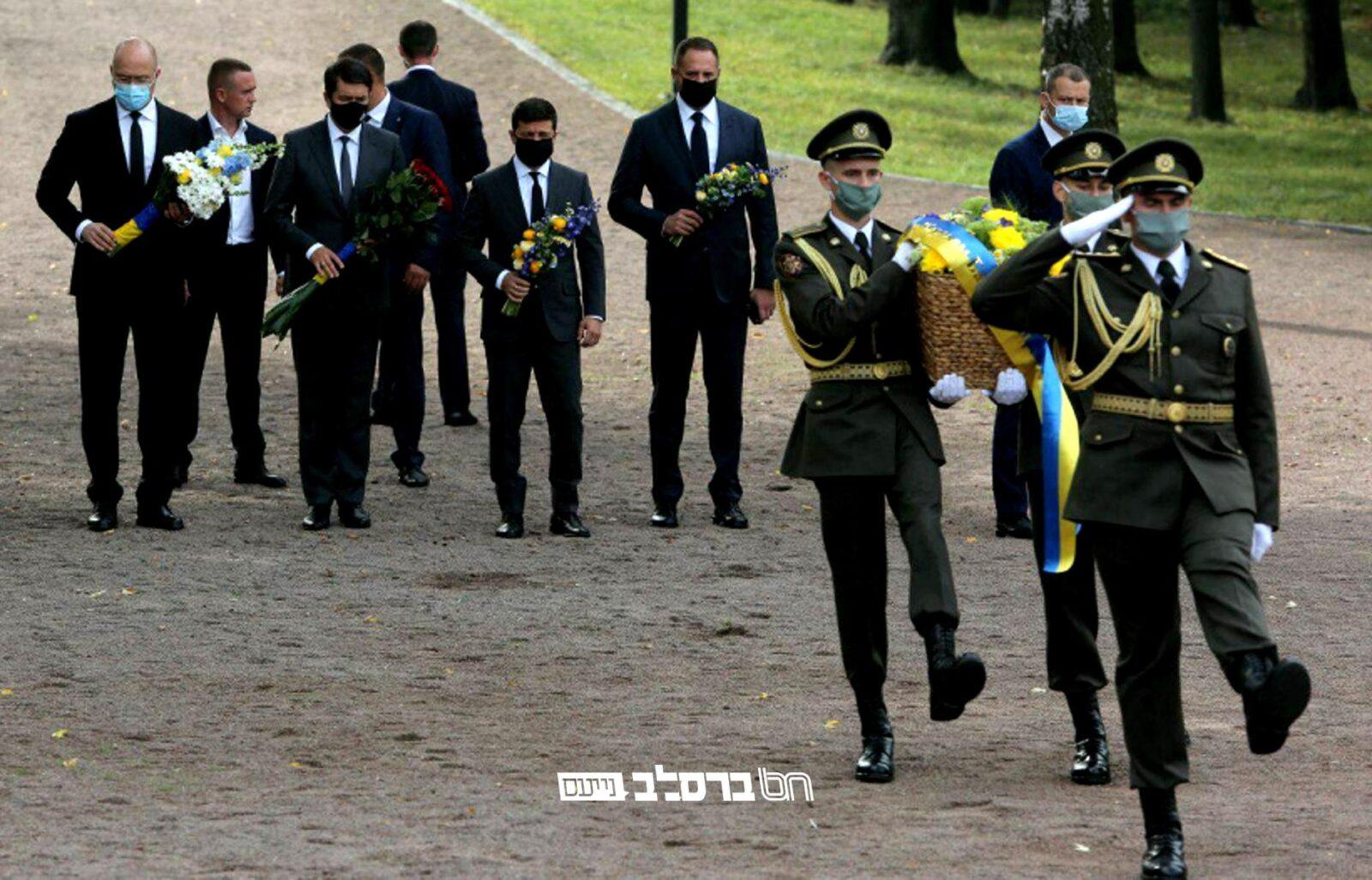 אוקראינה • טקס זיכרון לטבח האכזרי לאלפי הקדושים ב'באבי יאר'