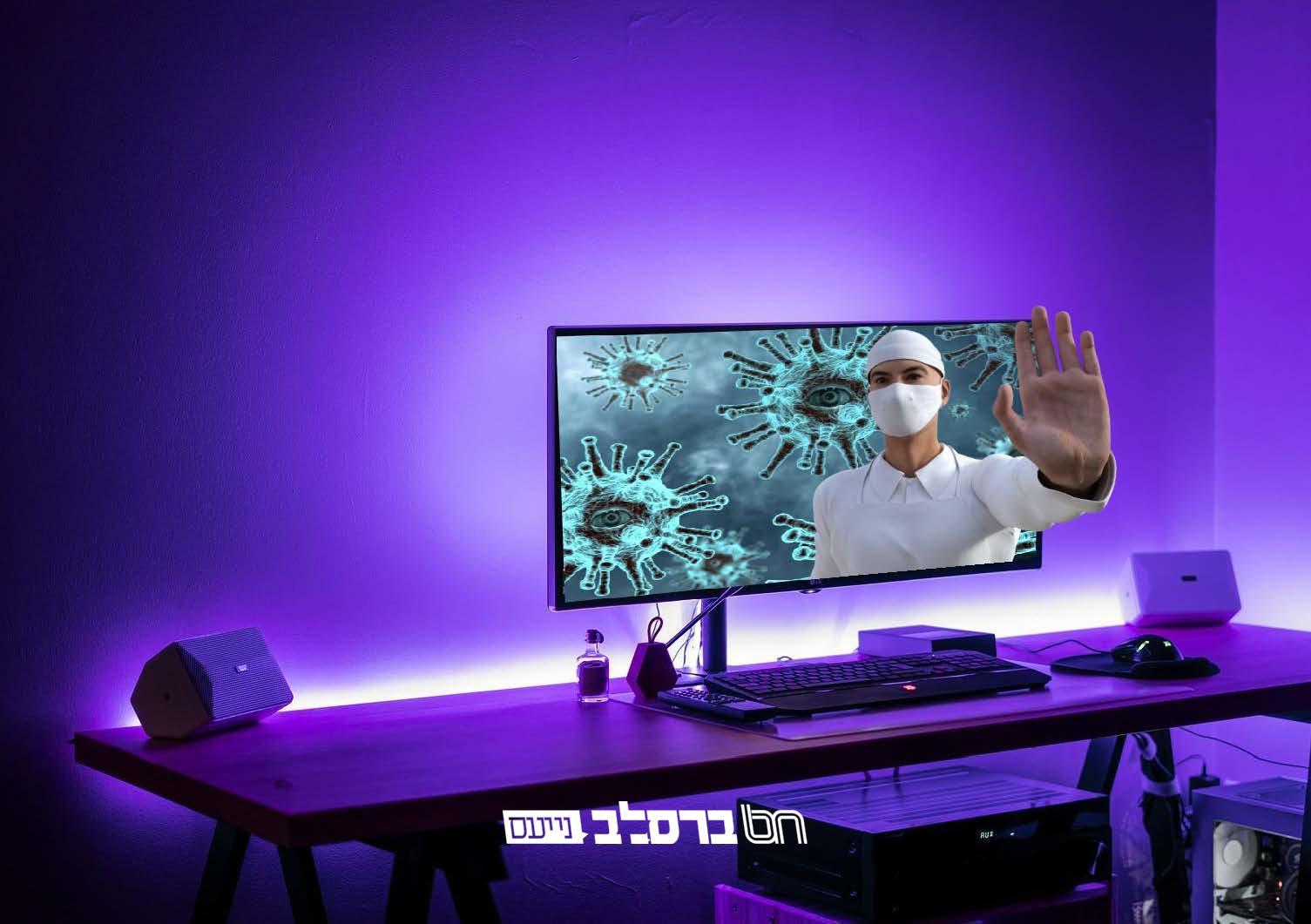 דרמה בינלאומית: מדענים עולמיים מוכיחים שנגיף הקורונה מדבק דרך האינטרנט