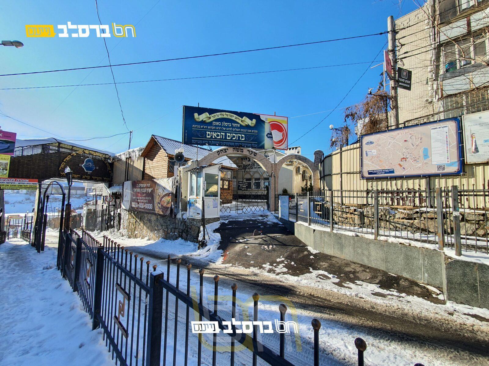 אומן • הצצה לשלגים בשבועות האחרונים סביבות הציון