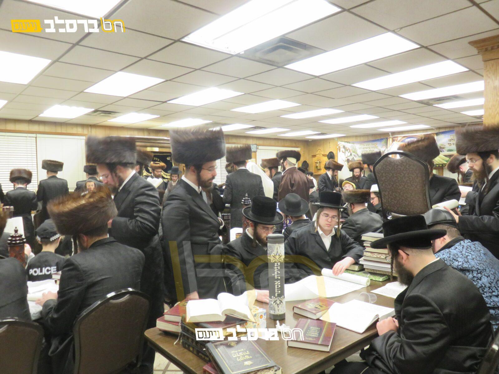 מאנסי • מקרא מגילה בבית הכנסת ברסלב 'ברכת הנחל'