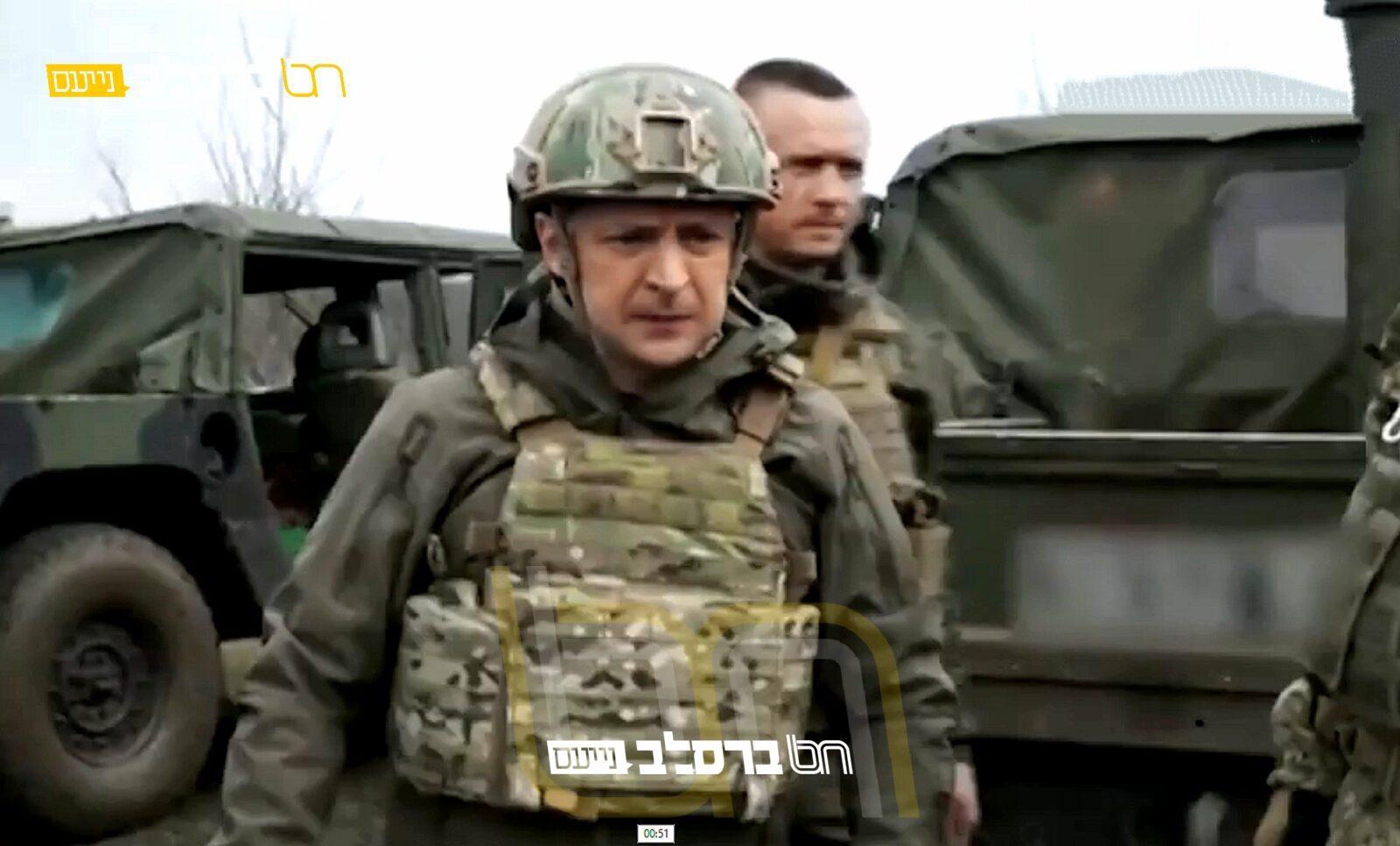 דונבאס • צפו נשיא אוקראינה יצא לחזית